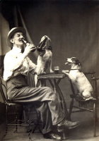 1915 Beer Drinking Dogs