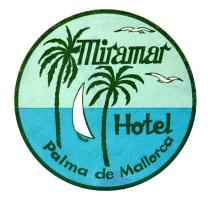 1930 Mallorca Spain Luggage label