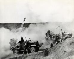 WWII US Marine Rockets on Iwo Jima