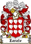 Zarate Coat of Arms, Family Crest