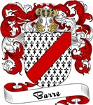 Barre Family Crest, Coat of Arms