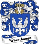 Beauchamps Family Crest, Coat of Arms