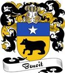 Benoit Family Crest, Coat of Arms