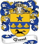 Brunet Family Crest, Coat of Arms