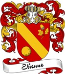 Etienne Family Crest, Coat of Arms