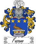 Fasano Family Crest, Coat of Arms