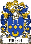 Wiecki Family Crest, Coat of Arms