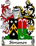 Simonov Family Crest, Coat of Arms