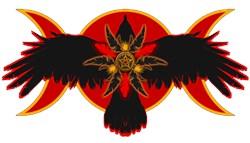 Crow Triple Goddess - Red