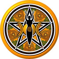 Gold-Green Goddess Pentacle