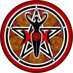 Red and Gold Goddess Pentacle