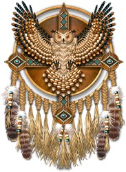 Native American Owl Mandala 1