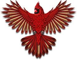 Beadwork Cardinal