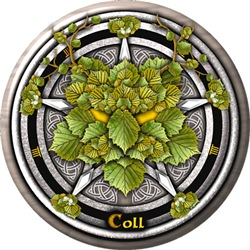 Hazel Celtic Greenman Pentacle