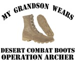 Operation Archer Grandson Desert Combat Boots