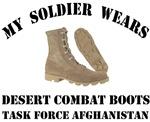 Task Force Afghanistan Soldier  Desert Combat Boot