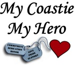 USCG My Coastie My Hero Dog Tags with Heart