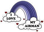 I Love My Airman Air Force Rainbow