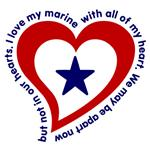 Heart Service Flag - Marine
