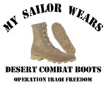 MY SAILOR WEARS DESERT COMBAT BOOTS
