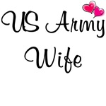 US Army Wife - With Pink Hearts