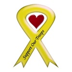 Support our Troops Military Yellow Ribbon