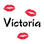 Victoria kisses