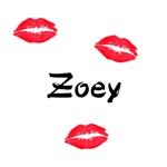 Zoey kisses