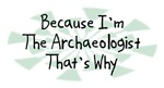 Because I'm The Archaeologist