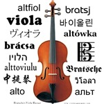 Viola in many languages