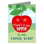 Apple Baby Birth Announcement Cards