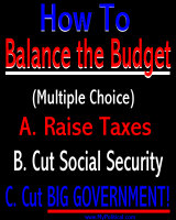 Balance the budget - cut big government!