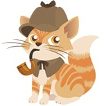 Sherlock Holmes Kitten