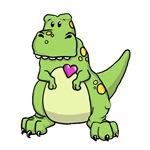 Valentines Dinosaur Dragon