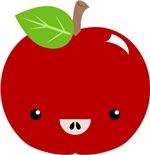 Cute Apple with Kawaii Face