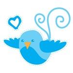 Cute Blue Birdy