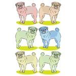 Rainbow PUG Dogs cute