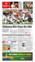 Jan. 8, 2010 - Alabama KOs Texas for title