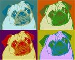Pugaholic Pug Pop Art