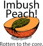 Imbush Peach! Rotten to the Core t-shirts