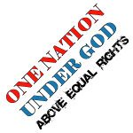 Under God Above Equal Rights t-shirts and gifts