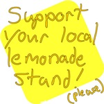 Lemonade Stand Supporter tee shirts and gifts