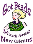 Got Beads? Mardi Gras Woman