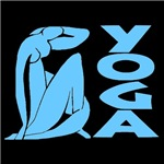 Yoga Woman Blue