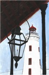 Camp Street Lighthouse Tile Wall Mural