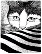 Heavenly Cat (Pen+Ink) Stuff
