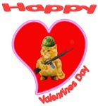 Happy Valentines day Army Kitty