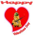 Happy Valentines day Army Kitty