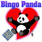 Bingo Panda Neon Heart