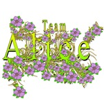 Team Alice Floral Lavender Flowers yellow Gold